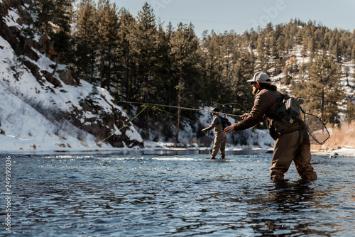 Fotografie, Tablou Fly Fish Colorado
