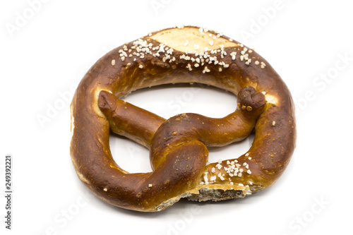 Fotografía Laugenbrezel pretzel isolated on white background