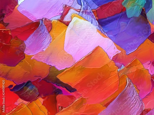 Fototapety, obrazy: Wall art print decor. Impressionism style emotional oil painting spring collection. Stock. Unique artistic texture background. Artwork for design covers, cards, banners. Elegance contemporary abstract