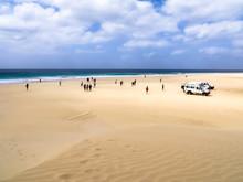 Ausblick Auf Praia De Santa Monica, Boa Vista, Kapverden