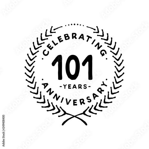 фотография  101 years design template. 101st vector and illustration