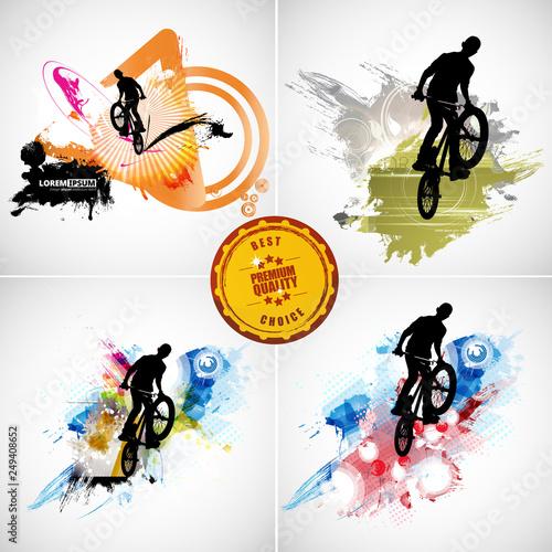 Photo Sport illustration of bmx rider