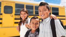 Young Hispanic Boys And Girl W...