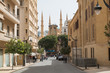View to the el nejmeh square and the mohammed al amin mosque, Beirut, Lebanon, Middle East