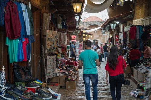 Printed kitchen splashbacks Kyoto Souk in Byblos, Lebanon