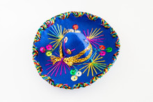 Blue Sombrero With Colorful Or...