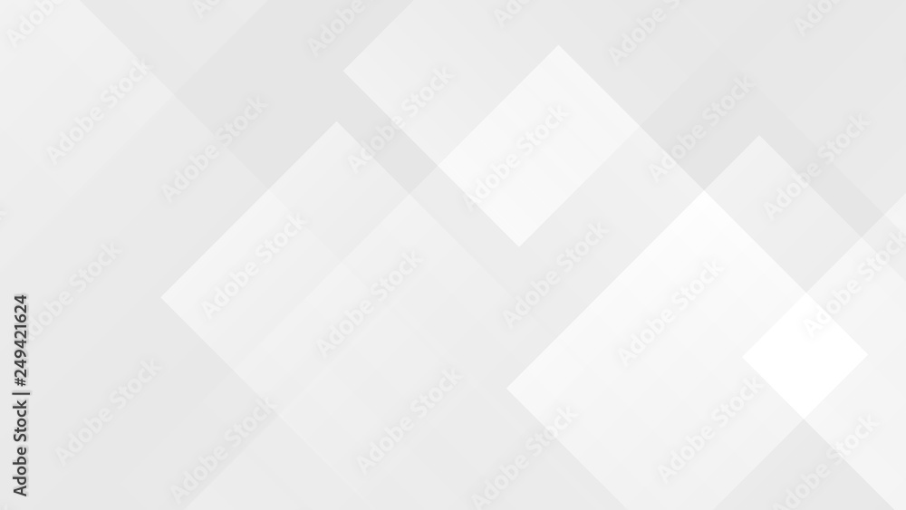 Fototapety, obrazy: White gradient abstract polygon pattern on gray background.
