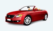 Red Convertible Car