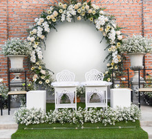 Backdrop Wedding Romantic Flower Decoration Beautiful Flowers Bouqet White And Yellow
