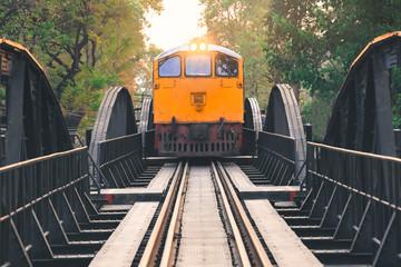 Old train over the River Kwai in Kanchanaburi, Thailand
