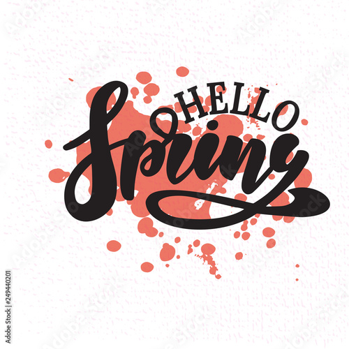 Hello Spring vector illustration Canvas-taulu