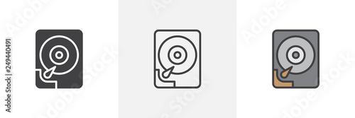 Fotografia, Obraz Hard disk icon