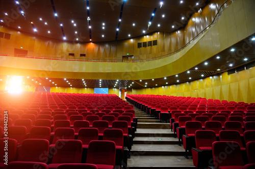 The auditorium seats Canvas Print