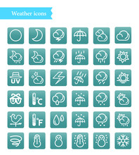 Set Of Vector Line Icons Of We...