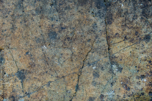 Fotografie, Obraz  The surface of an old rock with cracks