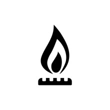 Natural Gas Icon Or Sign