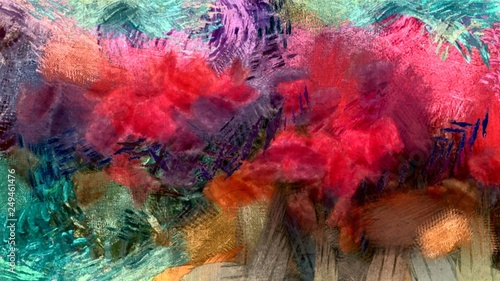 Fotografía  abstract psychedelic background from color chaotic brush strokes of different br