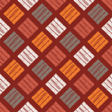 Ethnic Boho Seamless Pattern. Patchwork Texture. Weaving. Traditional Ornament. Tribal Pattern. Folk Motif. Can Be Used For Wallpaper, Textile, Invitation Card, Wrapping, Web Page Background.