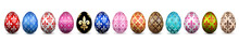 Easter Egg 3D Icon. Color Eggs...