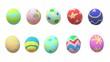 The Easter egg 3d rendering on white background.