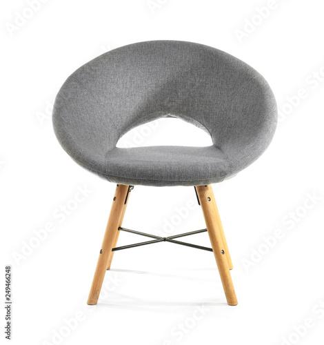 Valokuva  Modern chair on white background