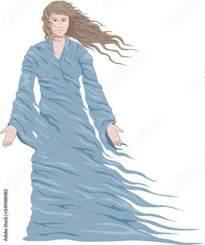 Photo Ghost Vector Illustration