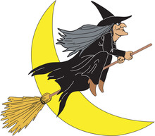 Witch Vector Cartoon Illustrat...