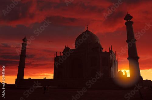 Foto auf Gartenposter Kastanienbraun Taj Mahal