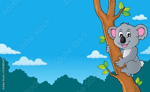 Fotobehang Voor kinderen Koala theme image 3