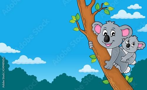 Fotobehang Voor kinderen Koala theme image 4
