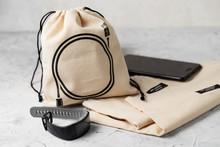 Canvas Bag With Drawstring, Mo...
