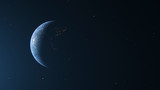 The Planet Earth Left Side View For Background Motion Graphic Or Text