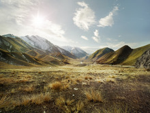Mountain Landscape In New Zealand
