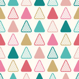 seamless modern triangle dotted pattern - Vector - 249489053