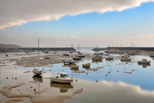 Marina At Low Tide, Morning Lighting, Jard Sur Mer, Vendee, France.