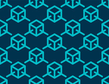 Blockchain Concept With Blue Block Link To Block Texture Background Vector Design