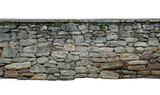 Fototapeta Kamienie - old wall of stone shell rock of arbitrary shape. isolated image