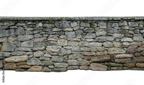 Obraz old wall of stone shell rock of arbitrary shape. isolated image - fototapety do salonu