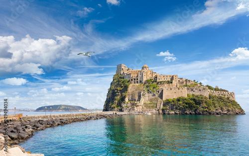 Aragonese Castle, Ischia island, Italy. Wallpaper Mural