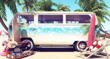 Unpacked Van With Mock-up Spac...