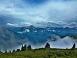Austrian Alps-outlook on the Alps from Zillertaler road