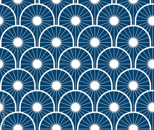 Obraz na plátně Repeating Japanese Wave Pattern