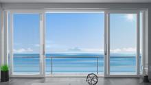 Sliding Window Villa With Sea View