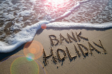 Bank Holiday Message Handwritt...