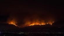La Tuna Fire Flames Night Timelapse Wildfire