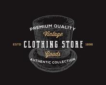 Clothing Store. Retro Typograp...