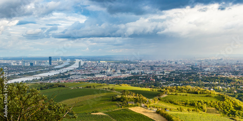 View of Vienna from Kahlenberg hill, Austria