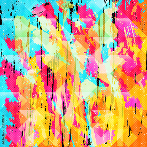 beautiful color abstract pattern illustration of graffiti