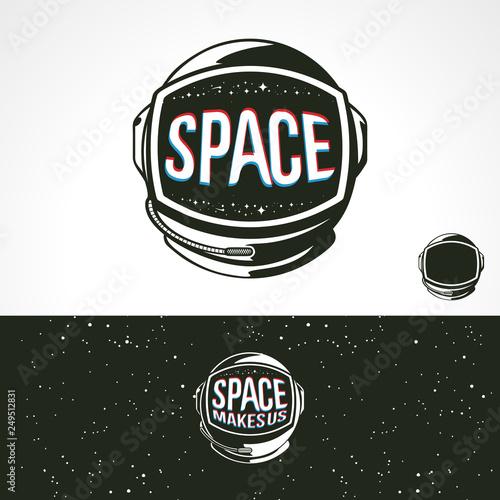 Space Helmet astronauts Fototapet
