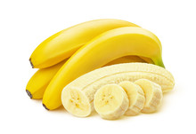 Bunch Of Bananas Isolated On W...